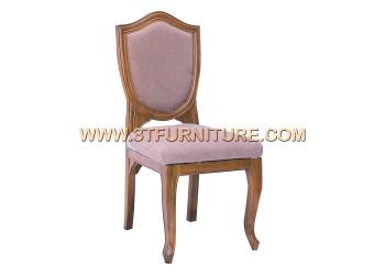 เก้าอี้ชุดรับแขกไม้สัก ลูกข่างหลังหุ้ม
