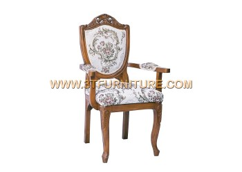 เก้าอี้ชุดรับแขกไม้สัก ลูกข่างแคทลียาท้าวแขน