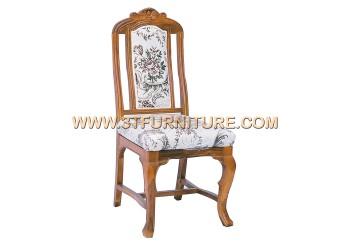 เก้าอี้ชุดรับแขกไม้สัก หลุยส์ศรแดงขาหลุยส์
