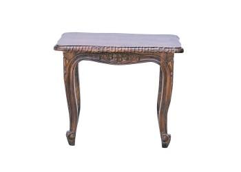 โต๊ะข้างไม้สักหลุยส์ชบาแกะลาย