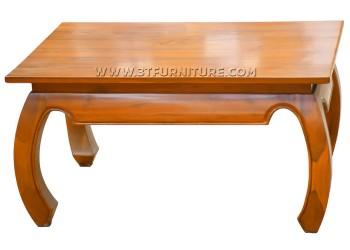 โต๊ะกลางไม้สักขาคู้