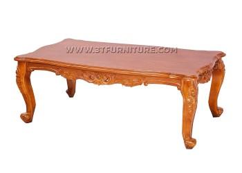 โต๊ะกลางไม้สักหลุยส์โอบมาลัย