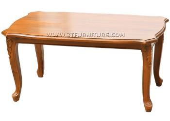 โต๊ะกลางไม้สักแปดเหลี่ยมขาสิงห์แกะลาย