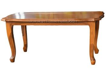 โต๊ะกลางไม้สักแปดเหลี่ยมขาสิงห์ไม่แกะลาย