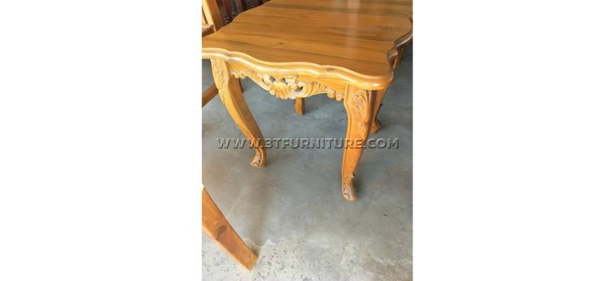 โต๊ะข้างไม้สักหลุยส์วีนัส(สีธรรมชาติ)