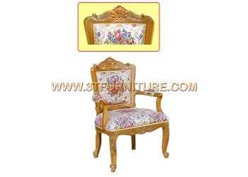 เก้าอี้ชุดรับแขกไม้สัก หลุยส์เล็ก